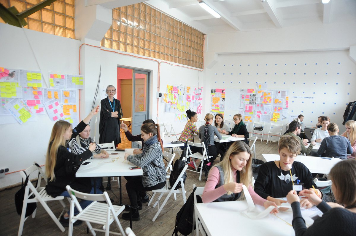 Participants at the Creative Enterprise Programme in Ukraine. Photo by Volodymyr Bosak