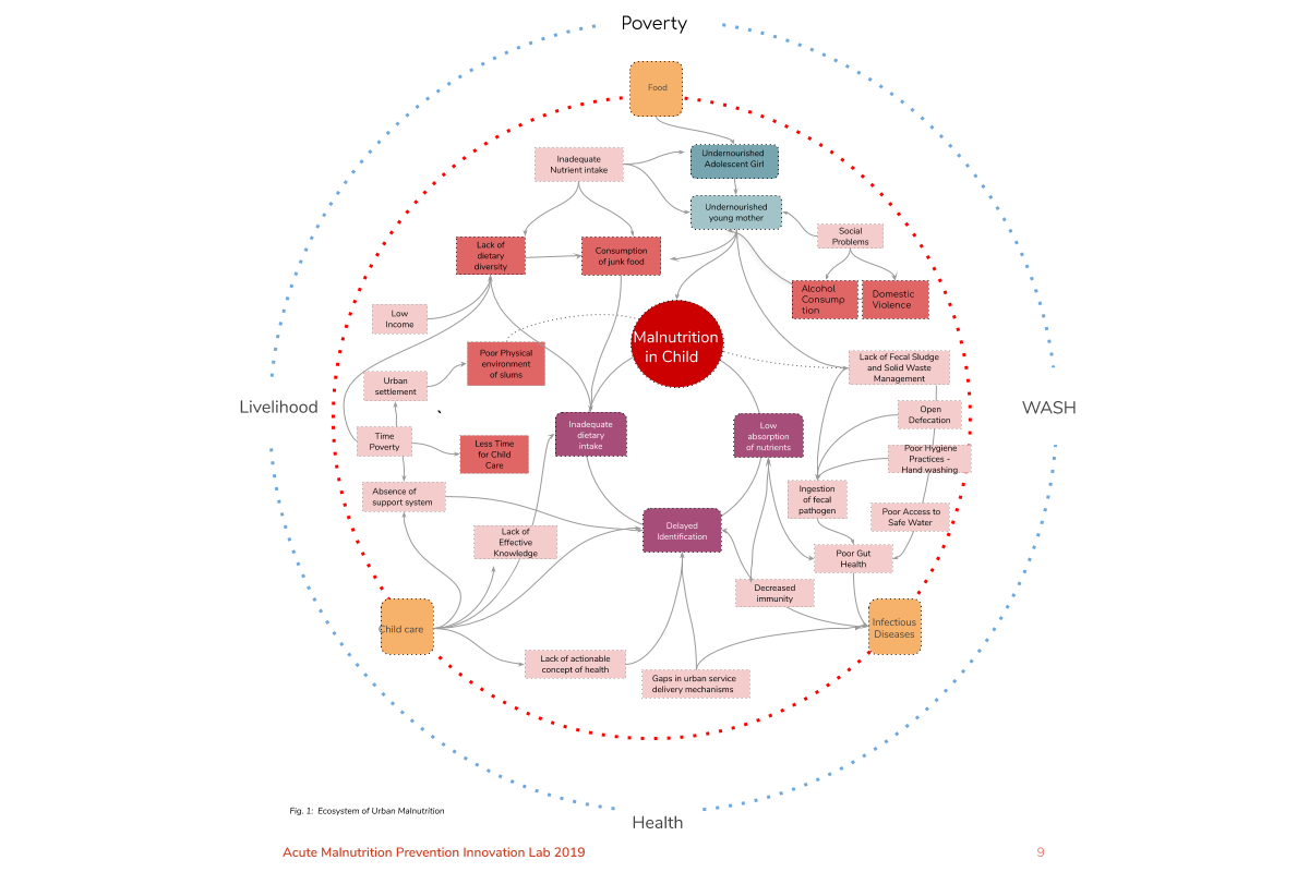 Acute Malnutrition Prevention Lab - the ecosystem graphic