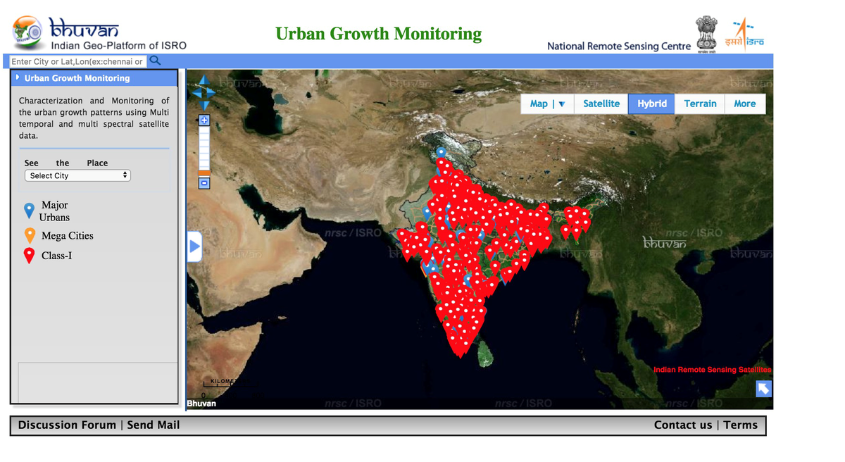 Bhuvan India map