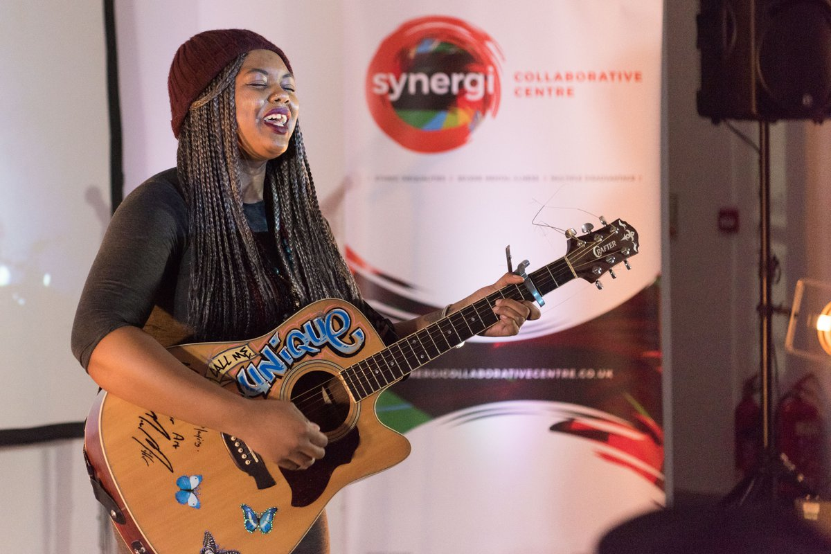 Call Me Unique sings at Synergie Collaborative Centre launch event
