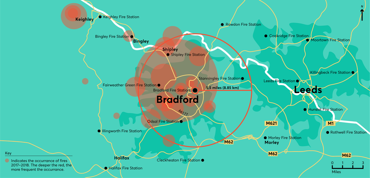 Bradford drone use cases map