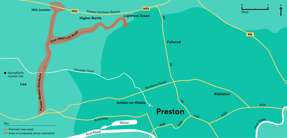 Preston drone use cases map