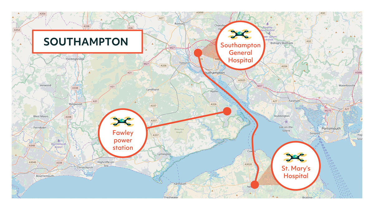 Southampton Flying High Map