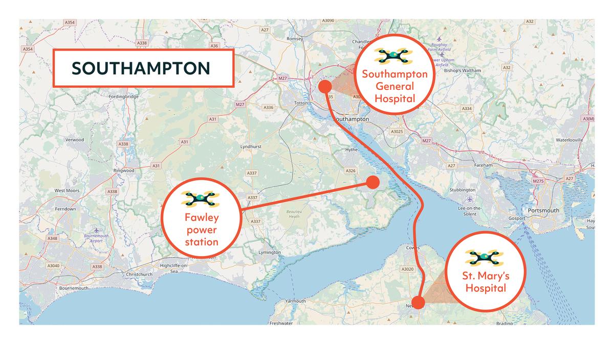 Southampton Flying High Map