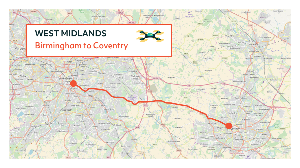 West Midlands Flying High Map