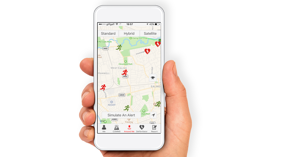 GoodSam mobile app being used