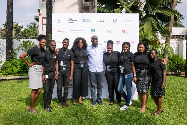 Ifeanyi Enukorah, Nigeria associate, with local delivery partners and fashion hub The Assembly (September 2018).JPG