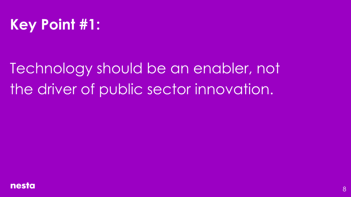 Technology should be an enabler, not the driver of public sector innovation