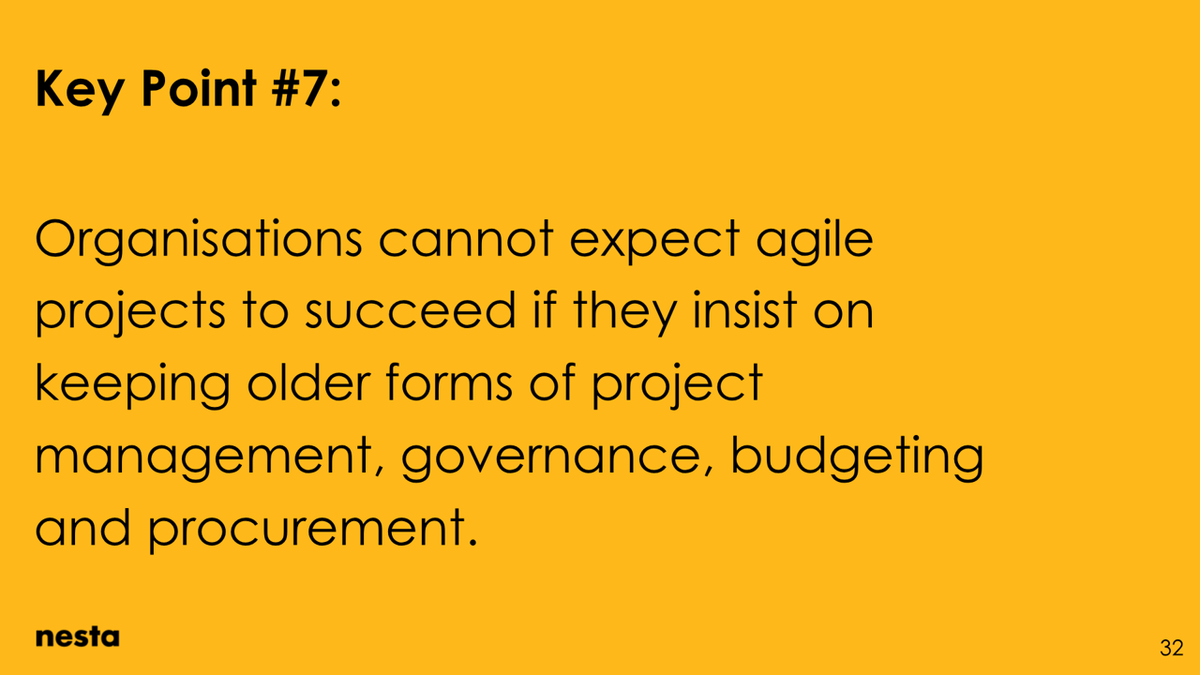 Organisations cannot expect agile projects to succeed if they insist on keeping older forms of project management, governance, budgeting and procurement