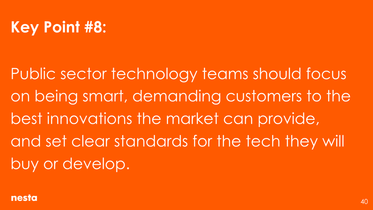 Public sector technology teams should focus on being smart, demanding customers to the best innovations the market can provide, and set clear standards for the tech they will buy or develop