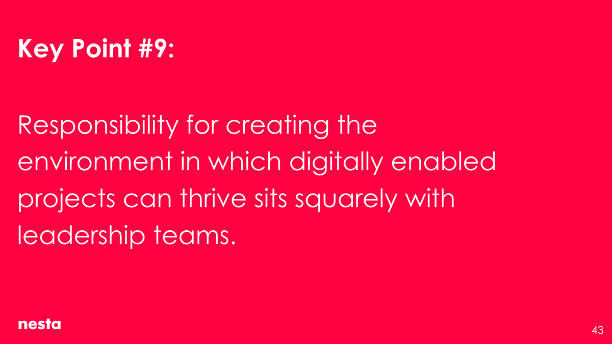 Responsibility for creating the environment in which digitally enabled projects can thrive sits squarely with leadership teams