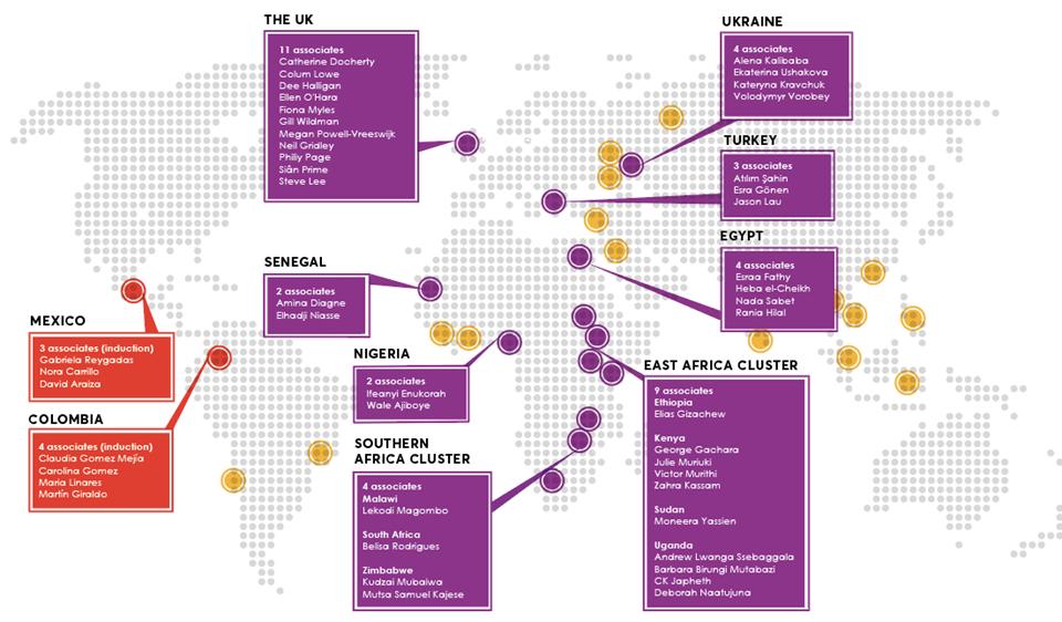 Map of Associates 2020