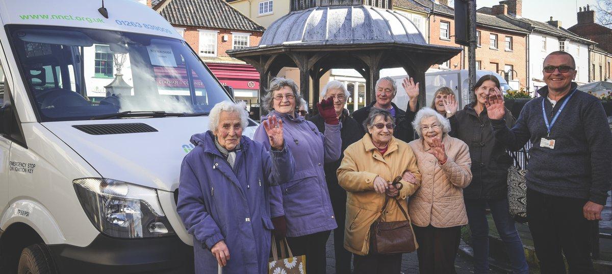 Volunteers and users of North Norfolk Community Bus