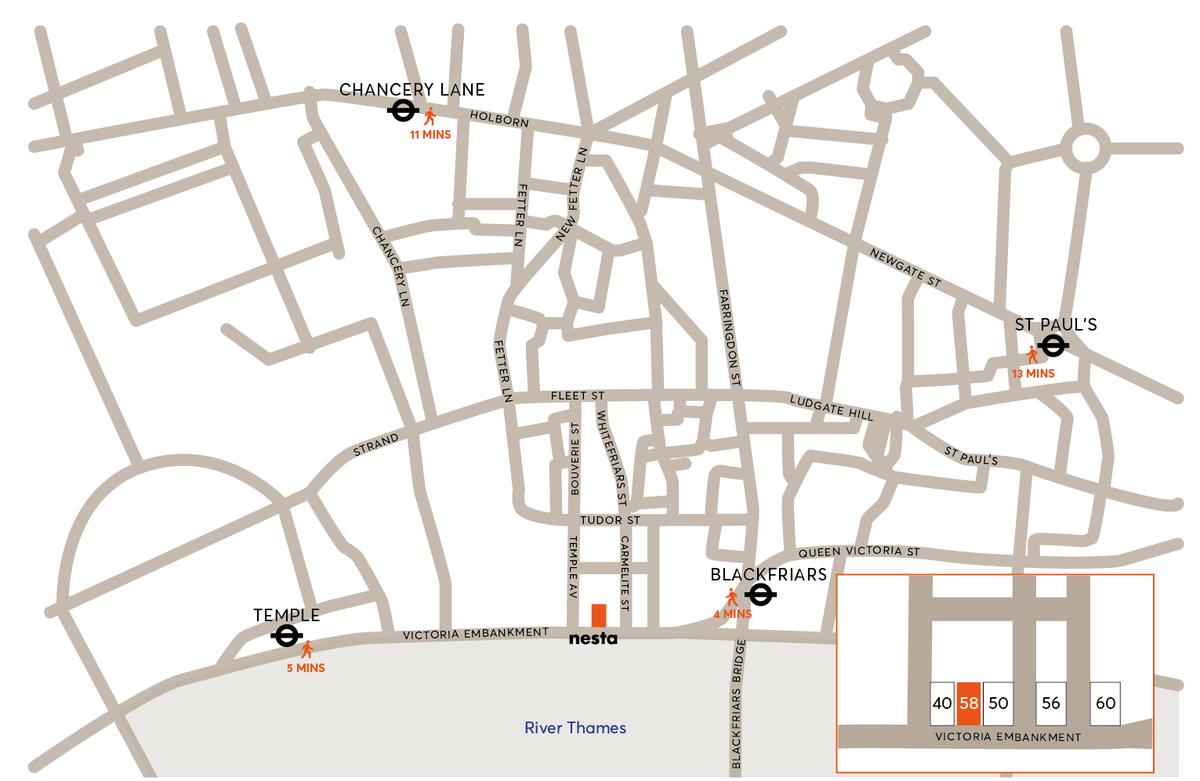 Nesta location map