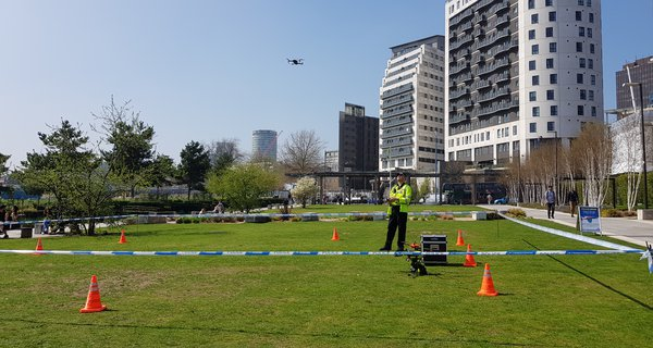 Police drone demonstration in Birmingham