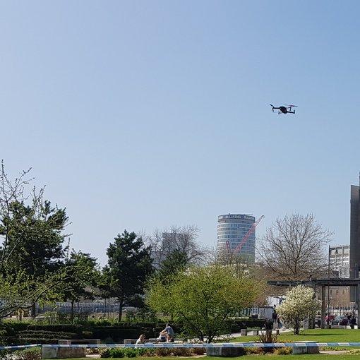 Police demonstrating drones in Birmingham