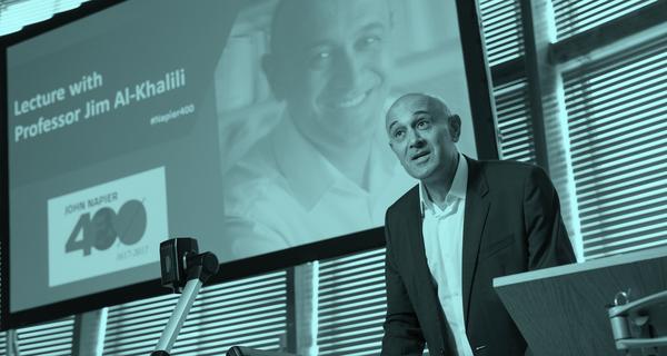 Jim Al-Khalili lecture blue