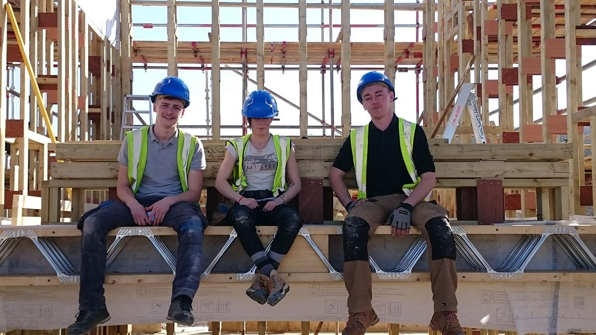 ToolShed students at construction site - Inclusive Economy Partnership