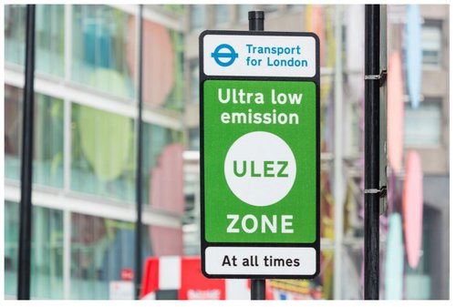 London Ultra low emission zone sign