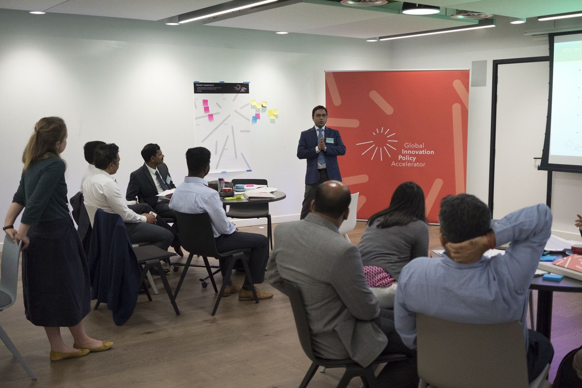 Indian Global Innovation Policy Accelerator participant presenting