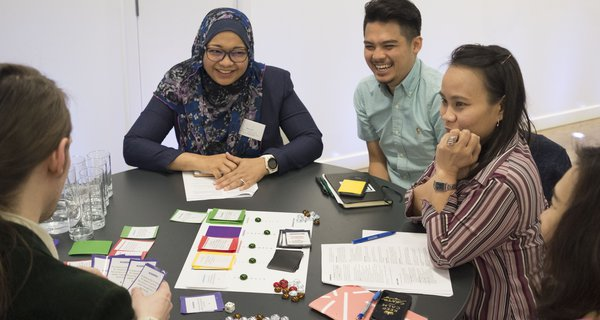 South East Asian participants playing the Innovation Policy Game