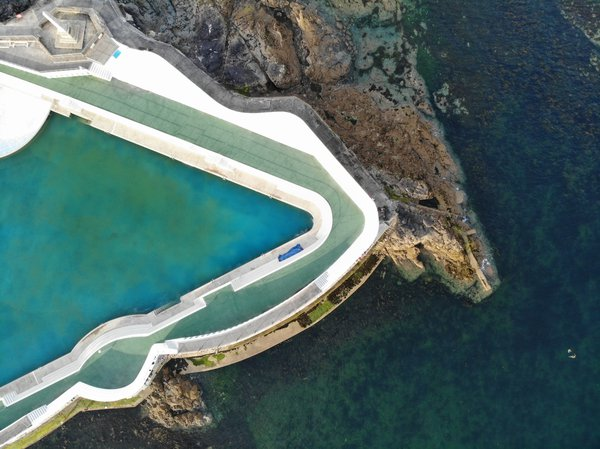 Jubilee pool outdoor seaside lido from above