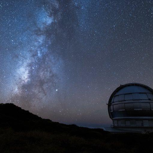 Gran telescopio canarias at night