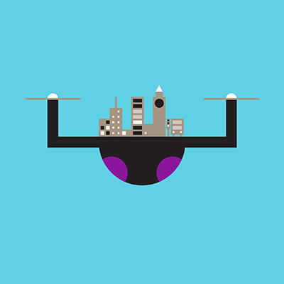 Drone illustration - 10 predictions for 2018 - listing
