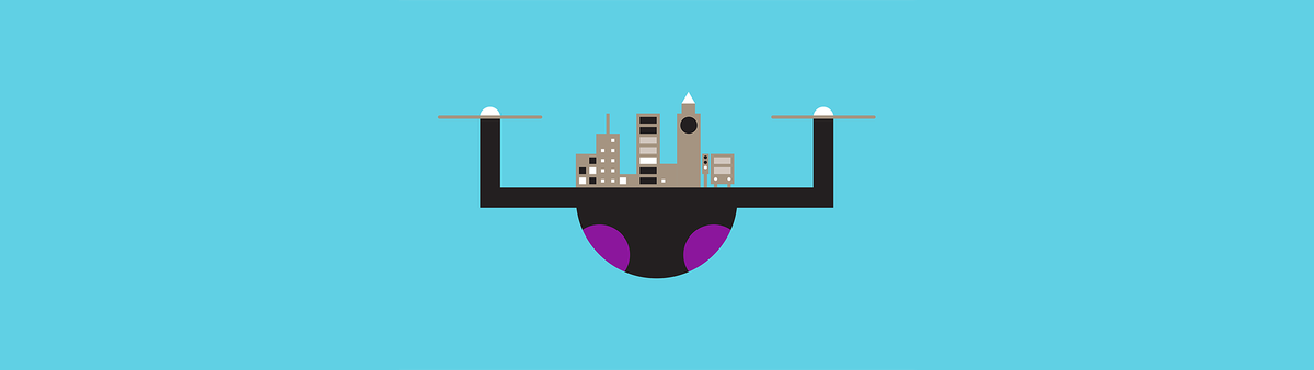 Drone illustration hero - 10 predictions for 2018