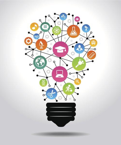 Future skills light bulb