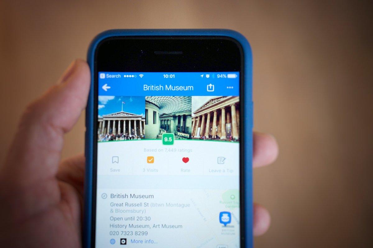 British Museum data on phone
