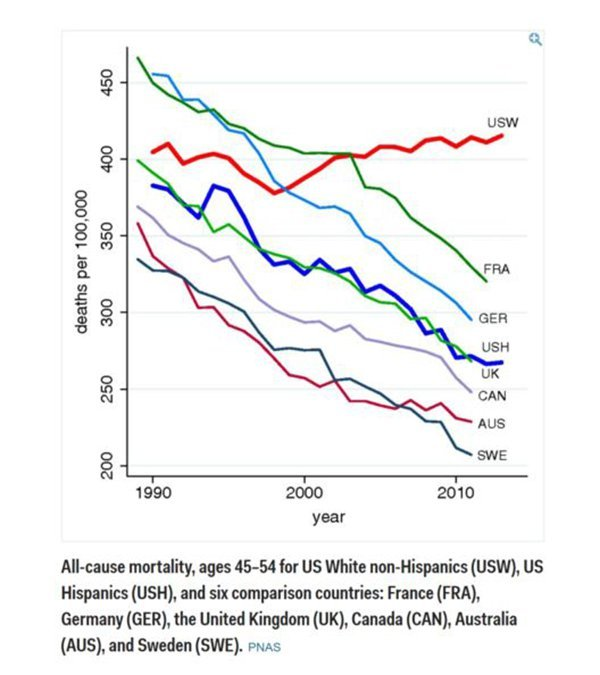 Mortality rate over time graph