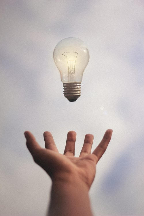 Lighgtbulb in hand