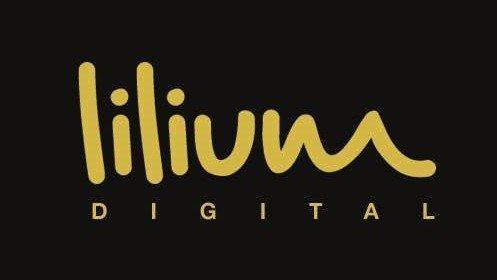 Lilium Digital logo - black and gold