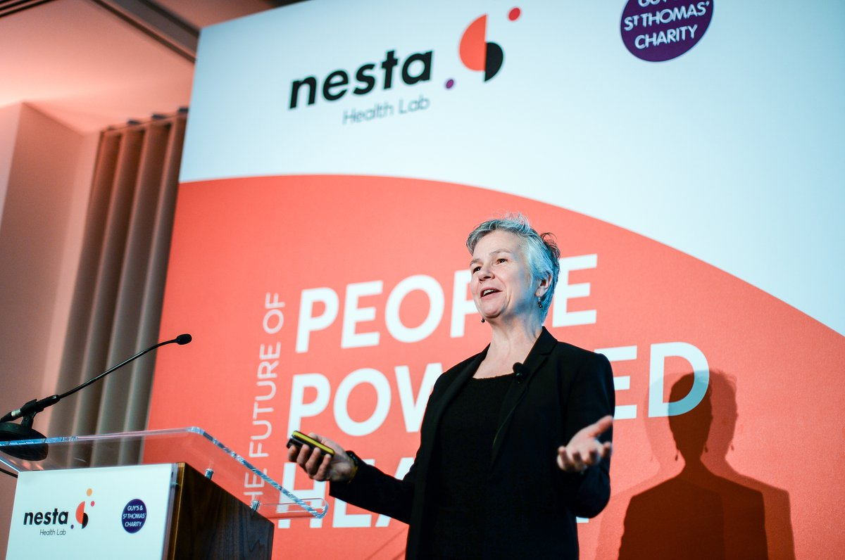 Sharon F Terry speaking at People Powered Health event