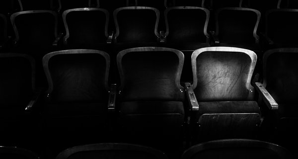 Theatre seats in black and white