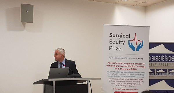 Campaigning for the Surgical Equity Prize.