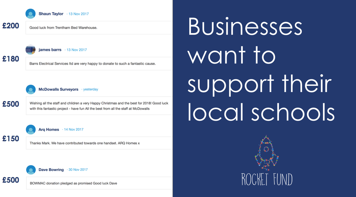 Businesses want to support their local schools
