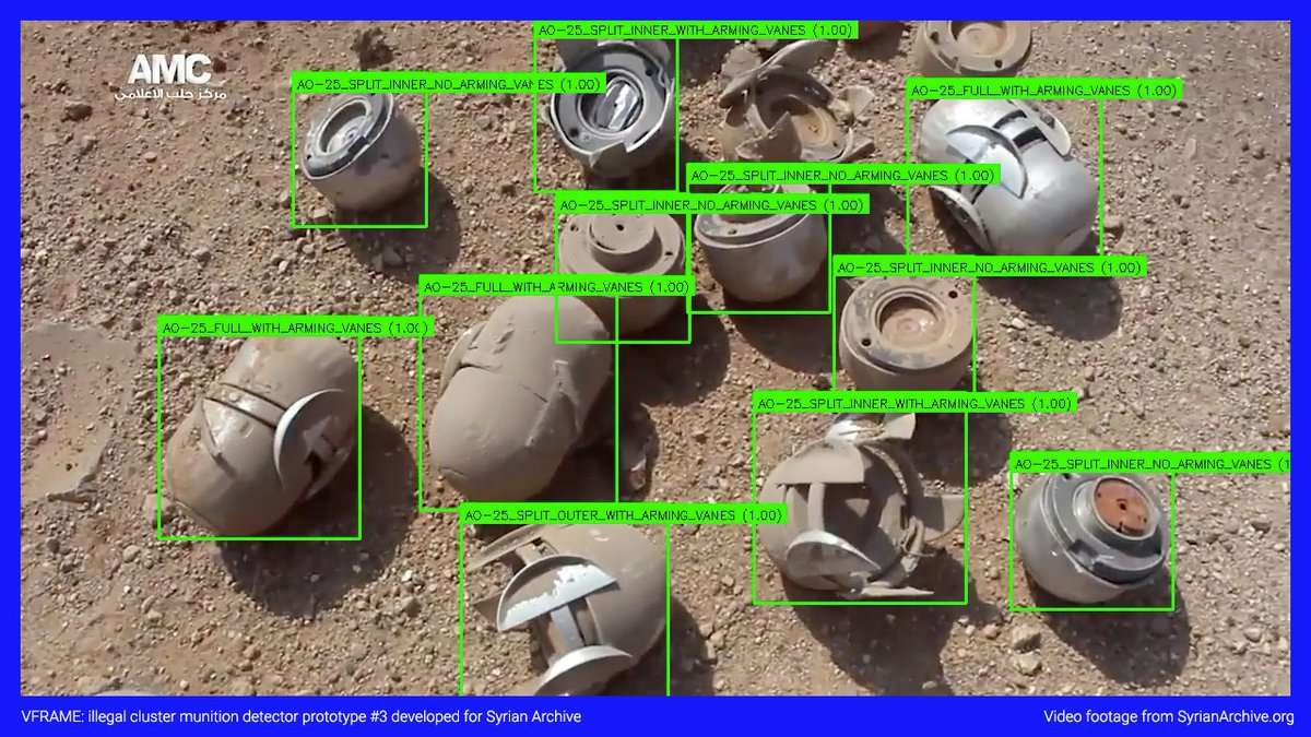 Cluster munition detector prototype