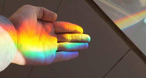 Light over hand